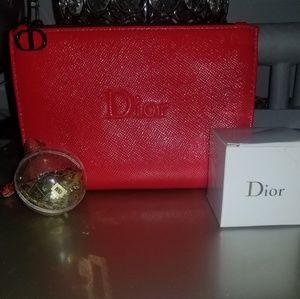 Dior makeup bag.